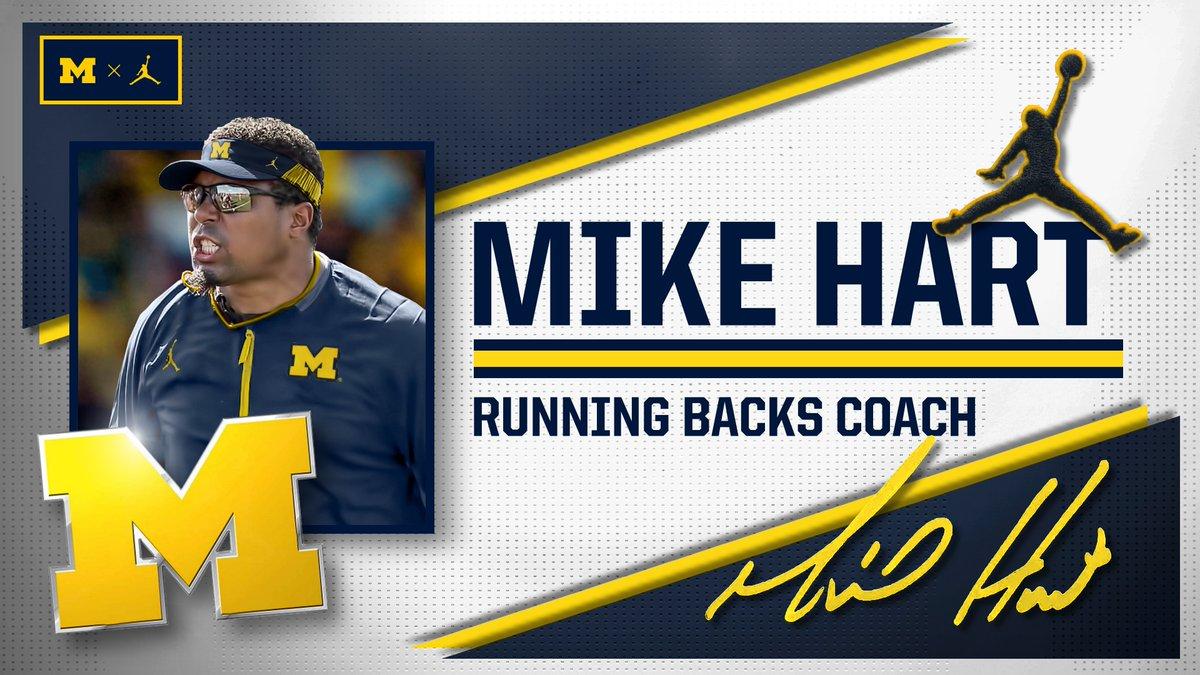 NEWS: Mike Hart Joins Michigan Staff as Running Backs Coach @MHart2032 #GoBlue   DETAILS »