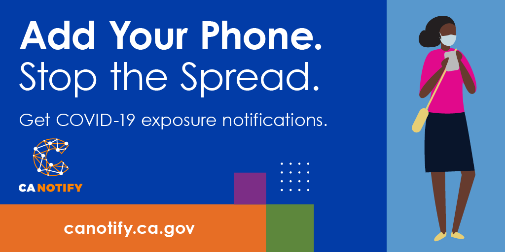Get exposure notifications and stop the spread. Sign up for privacy-protected COVID-19 exposure notifications on your phone. #CANotify