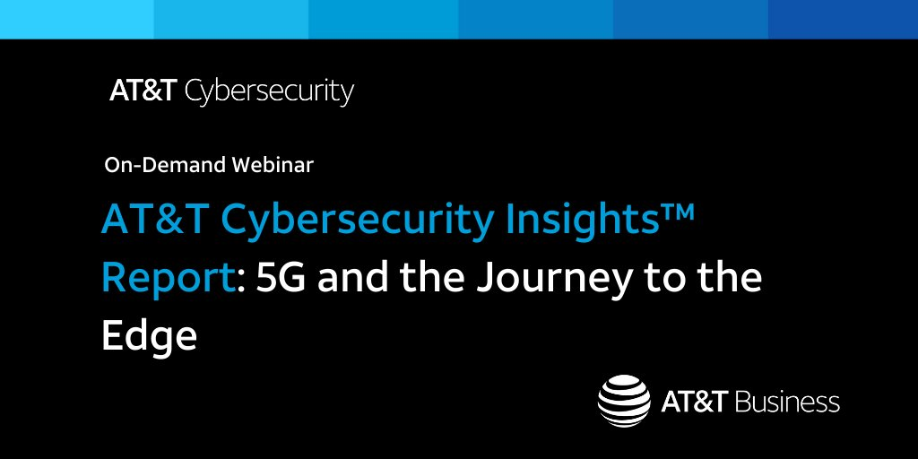 The use cases for #5G are almost unlimited, and organizations need to be prepared to utilize this new technology.  Check out our on-demand webinar, where we discuss the most interesting findings from our recent #ATTCybersecurity Insights Report: https://t.co/2Mz88EF10P https://t.co/0pTHAAOjZB