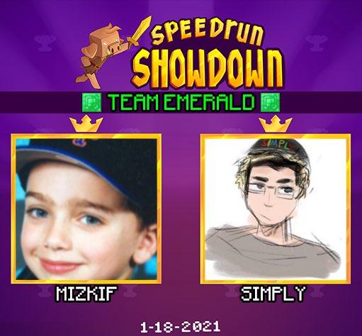 nerdi_tv - ANNOUNCING the next duo for Minecraft Speedrun Showdown: Team Emerald featuring @REALMizkif & @simplyn64 !