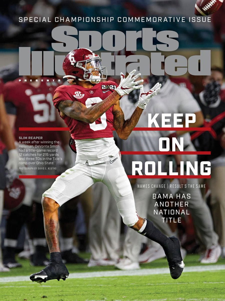 Losing Jaylen Waddle. Nick Saban testing positive. An all-SEC schedule. Nothin stopped Alabama this season — celebrate their historic season with SIs commemorative championship issue ➡️ buff.ly/3oDh8vG