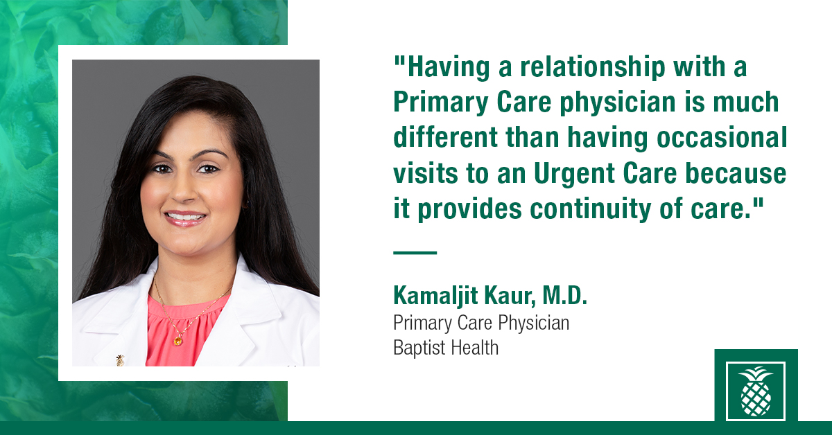 A 10-year study found that better access to #PrimaryCare was linked to longer life expectancy. Hear from Dr. Kamaljit Kaur, primary care physician at Baptist Health's new location in Plantation on why it's so important to visit a primary care physician. https://t.co/IrTqXTSHzf https://t.co/Py5DbgPTjP