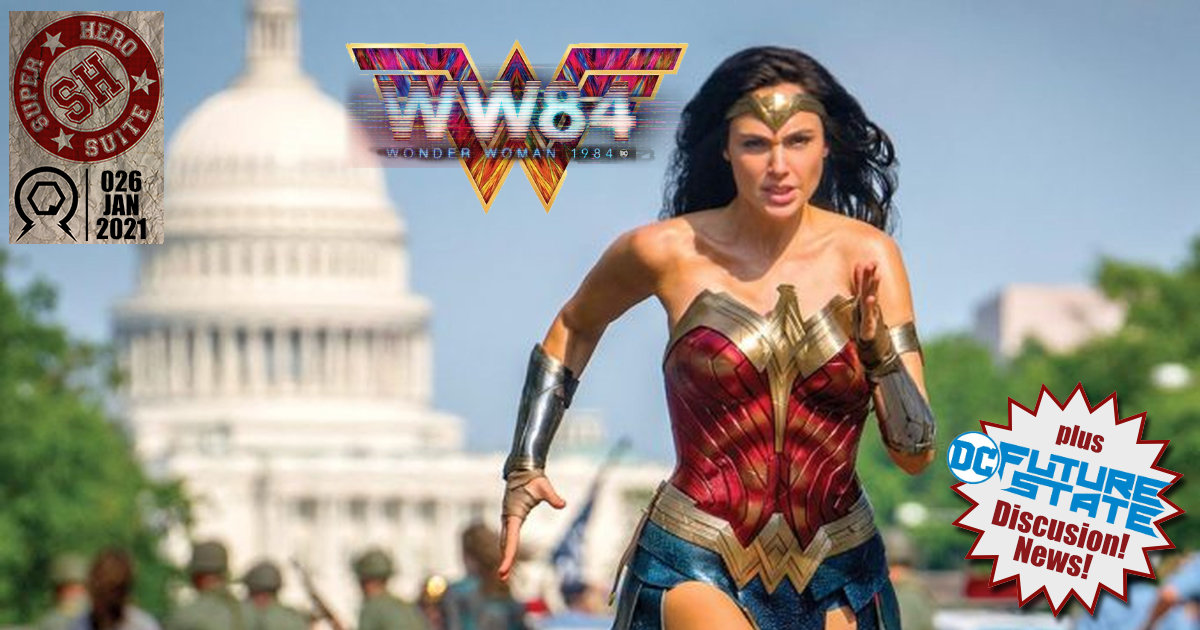 The boys are are back for a new year of talking all kinds of Superheroes! This week reviews of #wonderwoman84 and DC's #FutureState