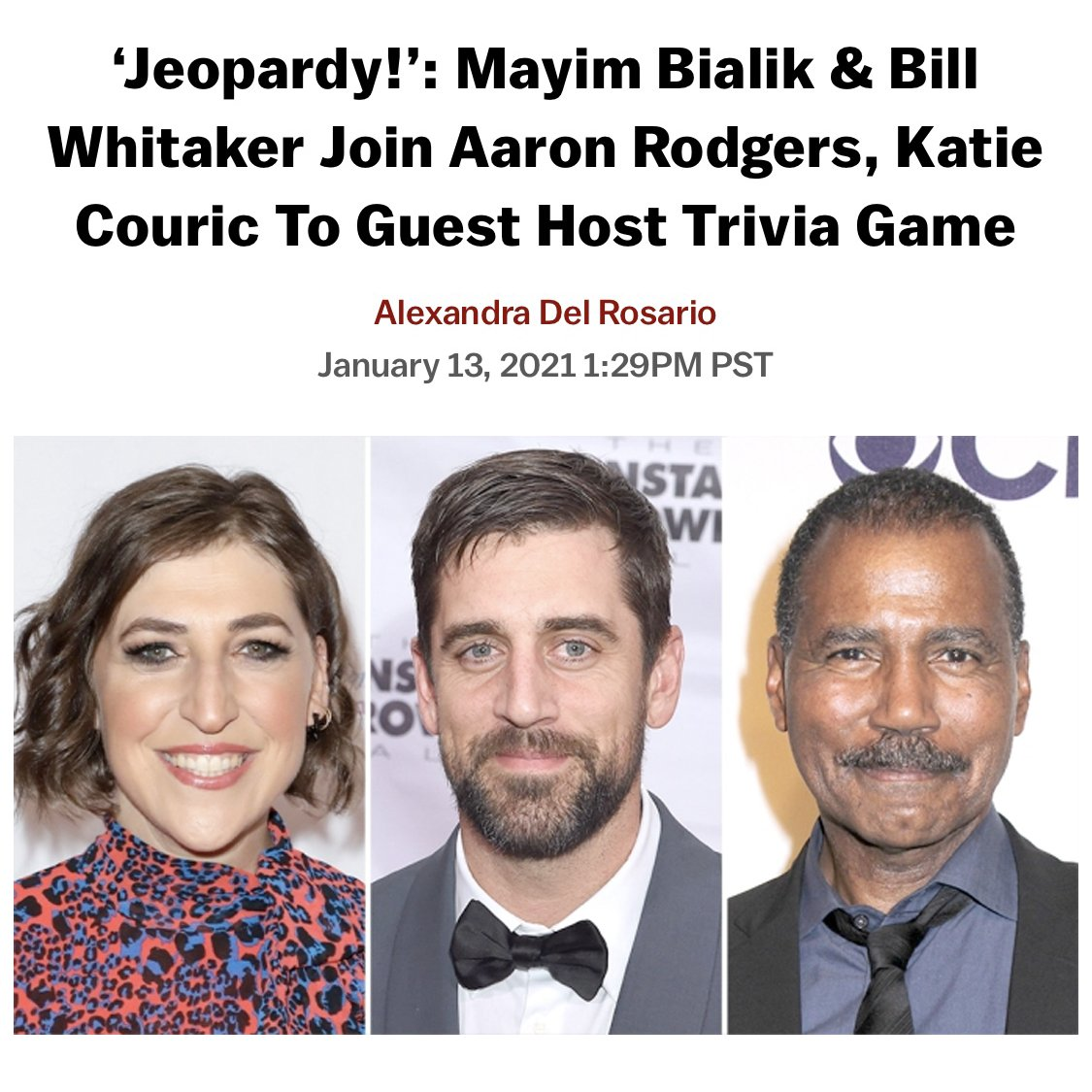 I'll take #DreamComeTrue for $500 please.  From being an answer on the show... to guest hosting... this is literally a dream come true for me. I've been such a fan of @Jeopardy and Alex Trebek since I can remember. It will be an honor to guest host & celebrate his great legacy.🙏🏽