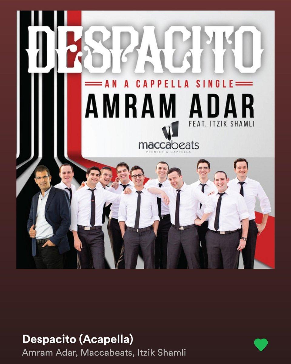 This morning's #music #mood: #Despacito covered by #AmramAdar, #Maccabeats, and #ItzikShamli.  #DJSangsta #musicislife #Spotify #musicismyescape #oooShiny