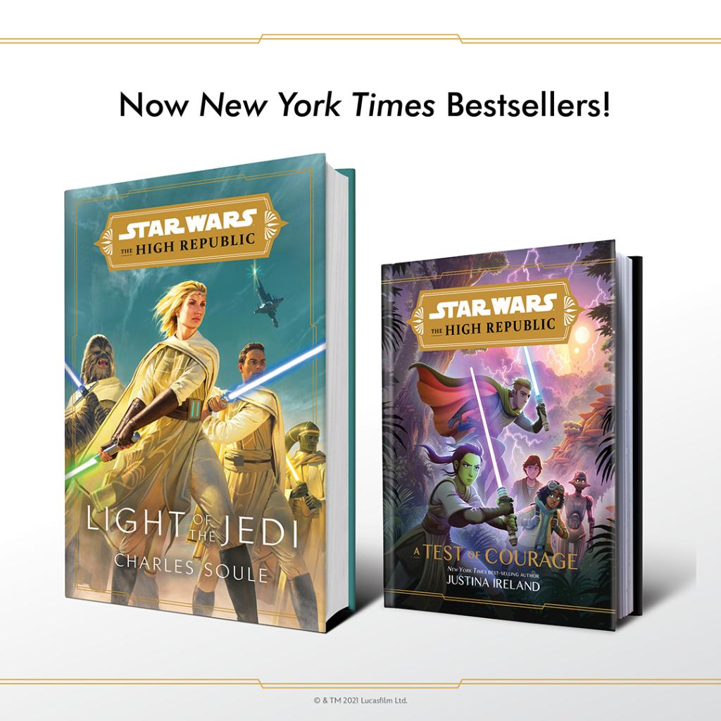 Congratulations to @CharlesSoule and @justinaireland! Their #StarWarsTheHighRepublic novels debuted on the New York Times Bestsellers List!