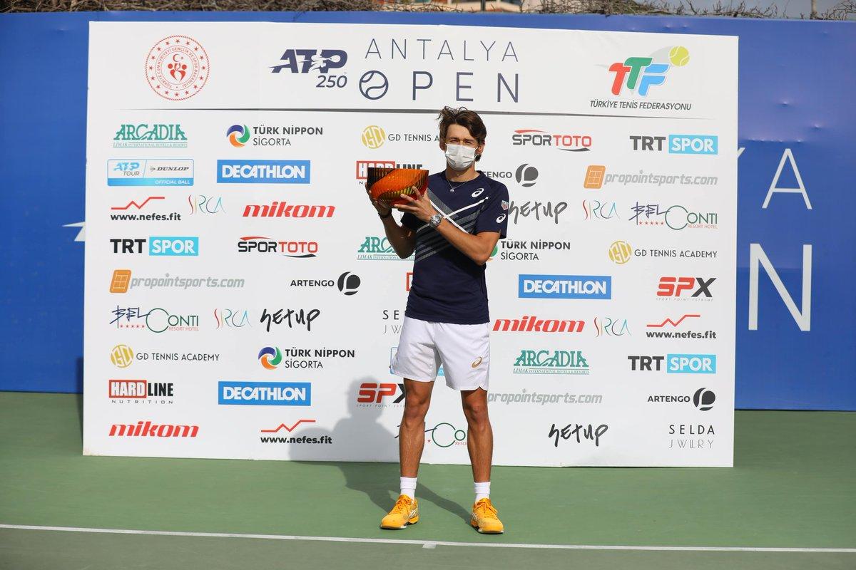 🎾🏆 Yılın ilk ATP turnuvası olan #AntalyaOpen 🇹🇷'da şampiyon dünya 2⃣3⃣ numarası Avustralyalı raket Alex De Minaur oldu. https://t.co/e17U1YRRUw