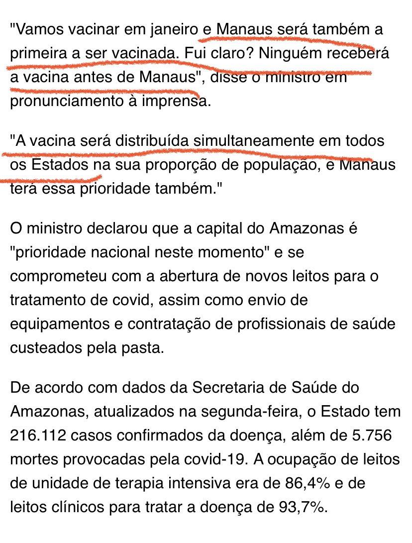Alguém me explica como ninguém recebe antes de Manaus mas a distribuição será simultânea? 🤔 https://t.co/eYUNdS8EZ0