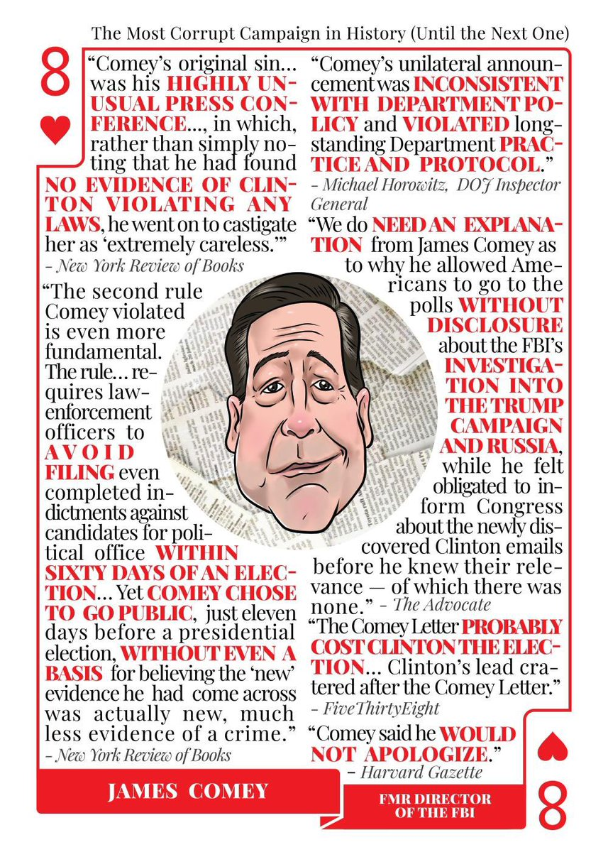 What a ridiculous opinion.   James Comey is the 8 of Hearts in our Trump Villain card decks at https://t.co/33IjBzUT25. He's been wrong about everything and still thinks we need to hear from him. He helped Trump win and is uniquely responsible for the mess this country is in https://t.co/hAzjt7x5e6 https://t.co/g8gm3vKxFr