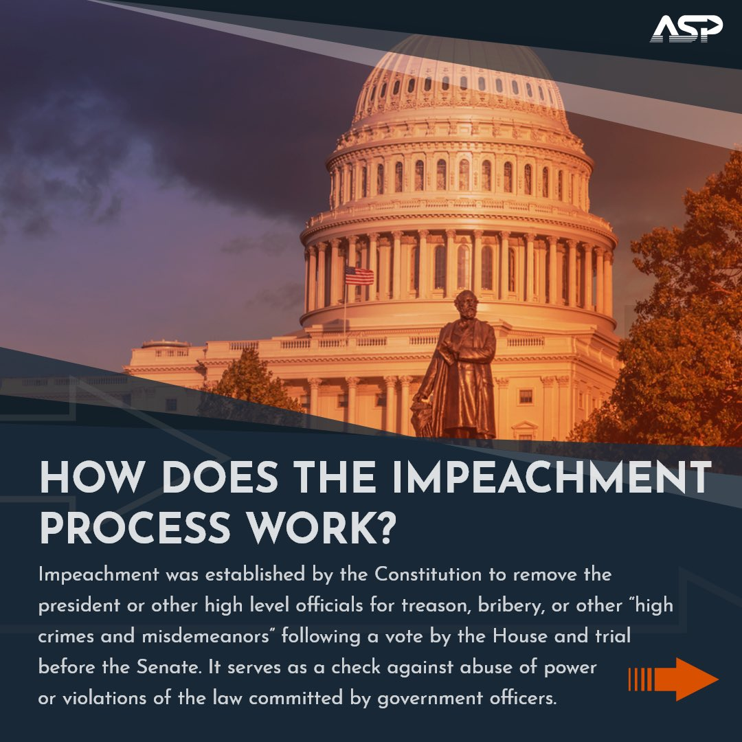 """Today, the House voted to impeach President Trump on accusations of the """"incitement of insurrection"""" in the Capitol last week, making him the first President in history to be impeached twice. Learn more about the impeachment process in the gallery below 👇"""
