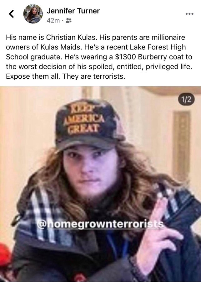 IDENTIFIED: Christian Kulas from Lake Forest, IL.   His millionaire parents own a cleaning company named KULAS MAIDS. h/t:@ndelriego