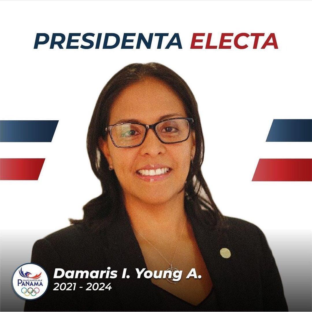 El Buró Ejecutivo de #CentroCaribeSports que preside @luisinmejia, felicita a la Presidenta electa del Comité Olímpico de Panamá, Damaris Young, ratificada por la Comisión Electoral Independiente y por el Comité Olímpico Internacional este día.  Young, 1ª mujer en dirigir el COP.