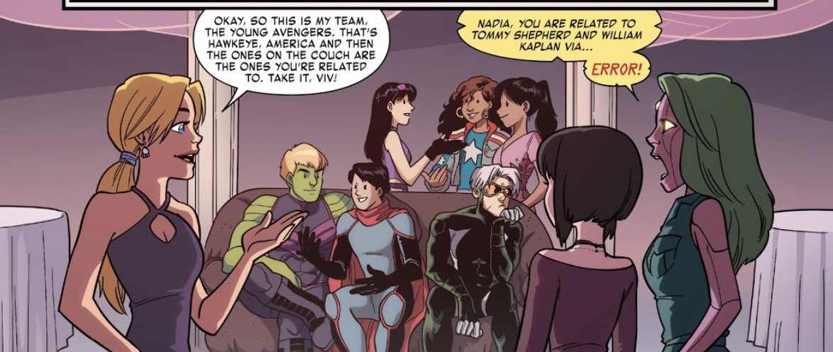 @bgaycomicgeek @LucianoVecchio They met in Unstoppable Wasp Vol. 2 #7 but a Champions/Young Avengers crossover would be very fun 👀