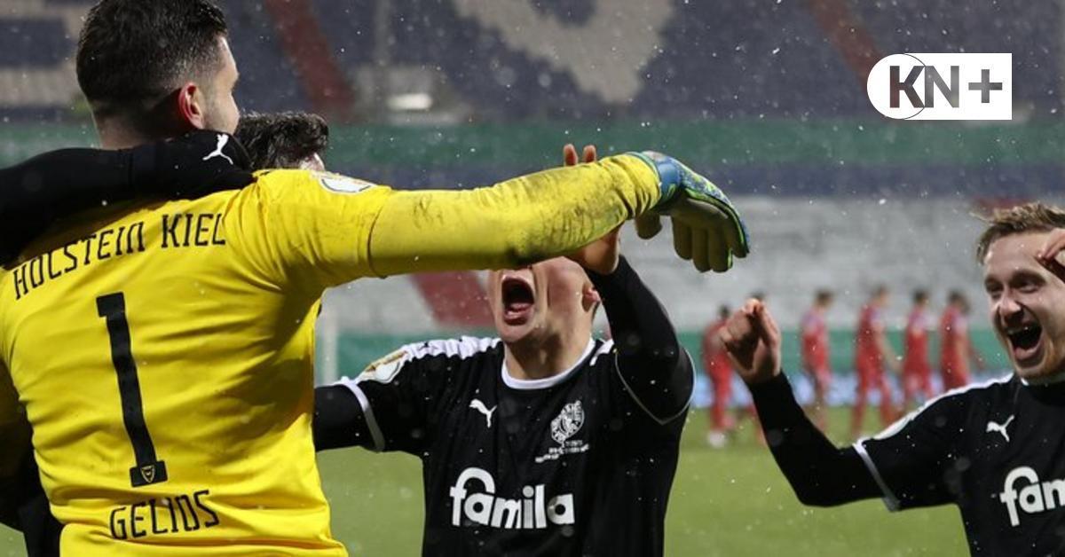 Nach dem überragenden Pokalsieg im Holstein-Stadion gegen den FC Bayern München kannte die Freude bei den Akteuren keine Grenzen.