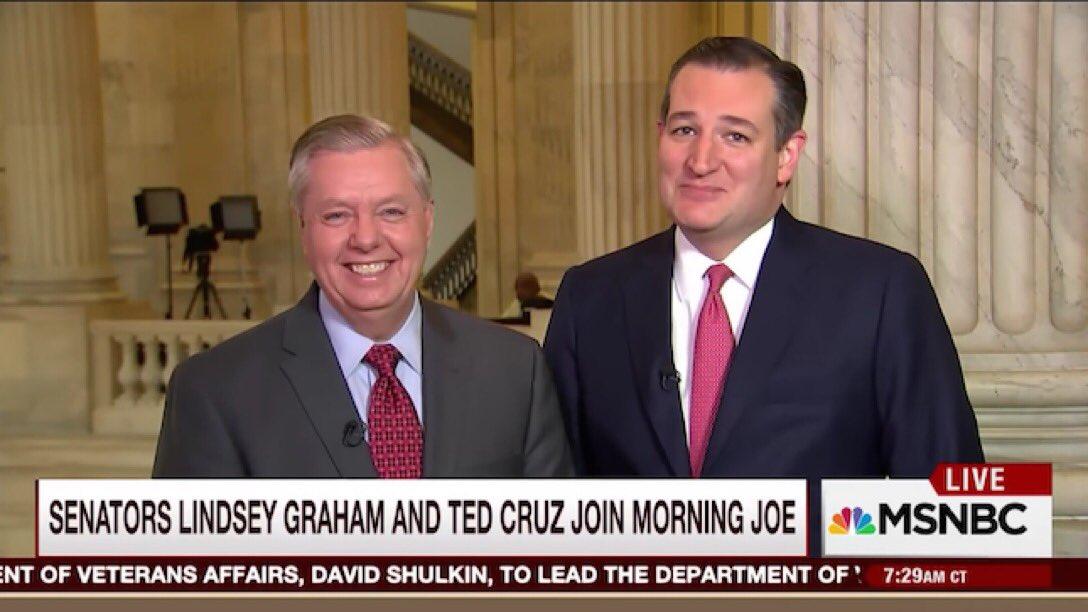 RT @paul_lander: #TedCruzIsTheTypeOfGuyWho  Even looks creepy next to Lindsay Graham. https://t.co/dXHCZDBIXx