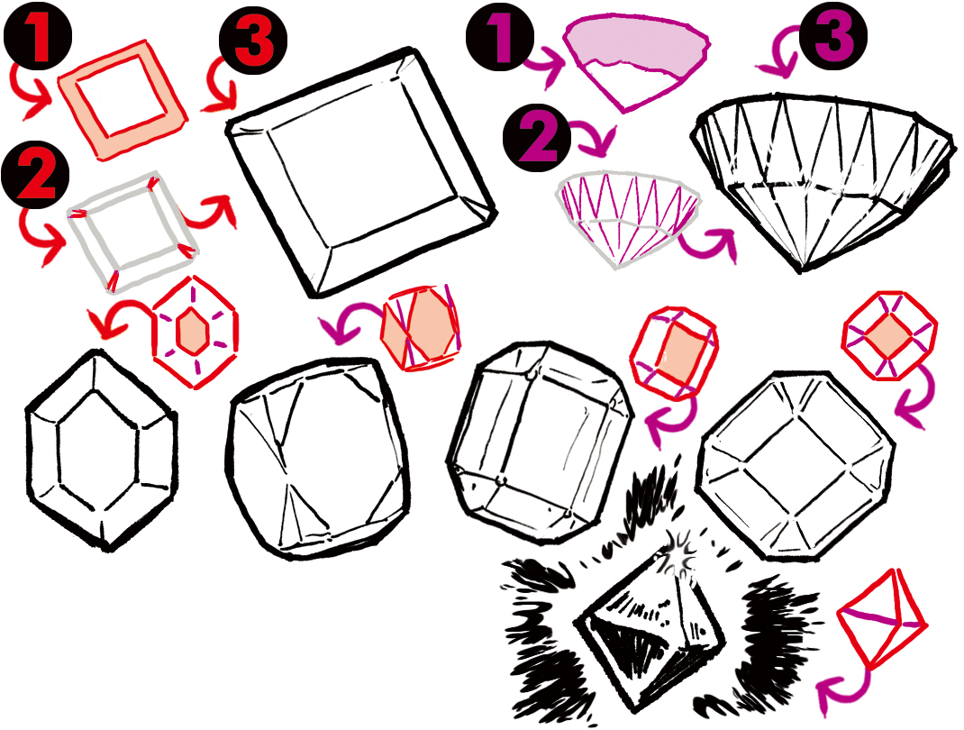 Learn how to draw a gemstones geometric cut patterns, the natural form of the crystals, & massive, shining gold with this tutorial by The @EtheringtonBros. clipstudio.net/how-to-draw/ar…