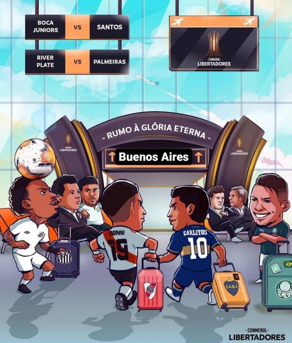@TheLibertadores @FIFAcom @Palmeiras @SantosFC Eu corrigi pra vocês