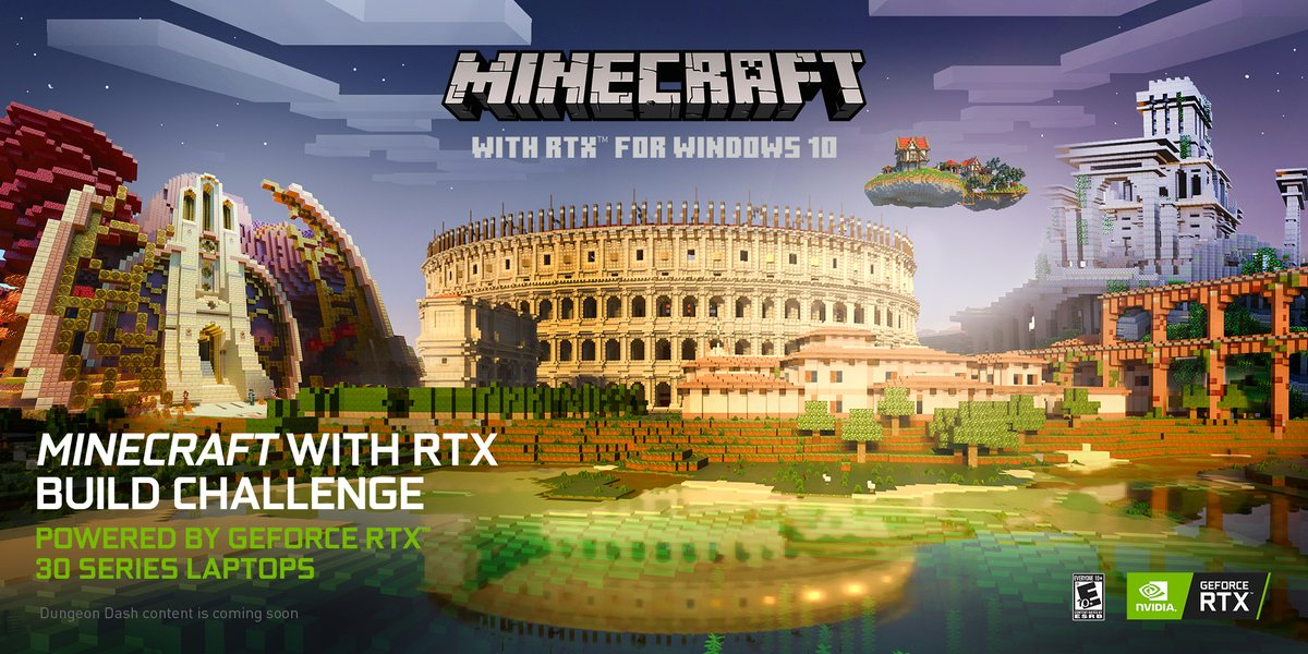 The first ever Minecraft with RTX Build Challenge series kicks off Jan 15th.   Watch as world-famous Minecrafters partner with the most prolific build-teams to create amazing RTX worlds in two weeks!     First up - fan favorite @BdoubleO100  teams up with Cyclone Designs!