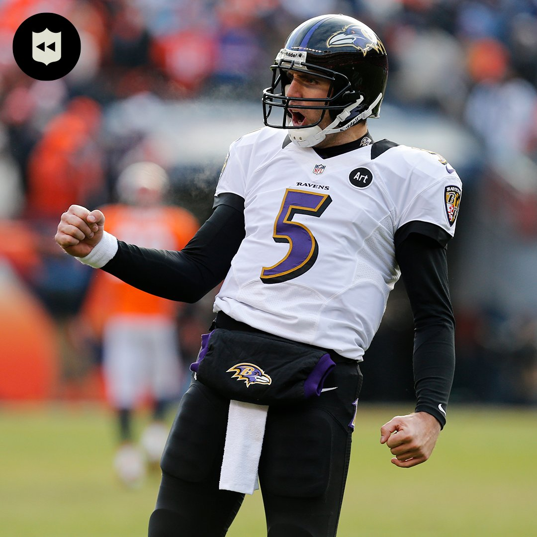 .@JoeFlacco's three TD throws in the 2012 Divisional Round were epic. #NFLPlayoffs (Jan. 12, 2013)  📺: #BALvsBUF -- Saturday 8:15PM ET on NBC 📱: NFL app // Yahoo Sports