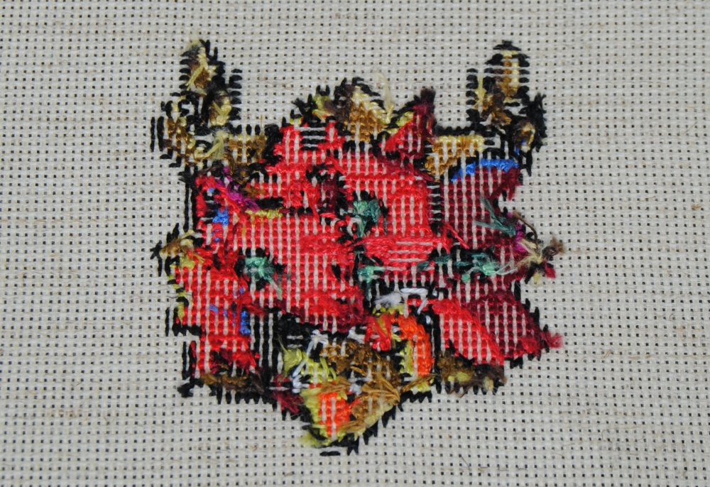 Sirithre - I get asked about the backsides of my cross stitch quite a bit, so I want to start posting more of them.  I honestly don't pay attention to it. I knot my threads! I jump!  I'm very much in the 'butts can be as messy as you want' camp. Don't stress so much about the back! Go wild!