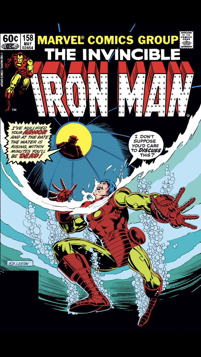 #comicbeforebed Iron Man No. 158, May, 1982. Tony puts on armor, gets conked on the head, and tries to escape! 💪😫😲 #IronMan #MarvelComics #MarvelUnlimited #digitalcomics @Marvel @MarvelUnlimited