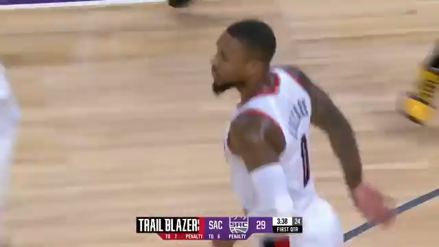 🔥 40 & 13 for Dame 🔥  @Dame_Lillard becomes the 1st player with 40+ PTS, 13+ AST and zero turnovers since turnovers became an official stat in 1977-78! https://t.co/xXJSVItJqw
