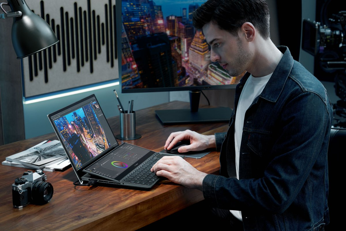 Asus' 2021 laptop line includes two new dual-screen ZenBooks trib.al/CPi6DGD