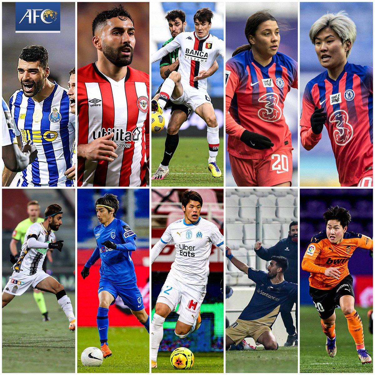 Who's your favourite AFC International Player of the Week? 🧐  🇮🇷 Mehdi Taremi 🇦🇺 Sam Kerr 🇰🇷 Ji So-yun 🇮🇷 Saman Ghoddos 🇮🇷 Ali Gholizadeh 🇯🇵 Junya Ito 🇯🇵 Hiroki Sakai 🇮🇷 Shahriar Moghanlou 🇰🇷 Lee Kang-in  🗳 VOTE: