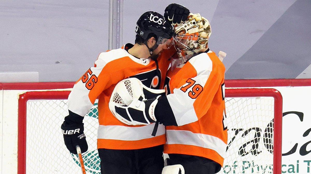 tired: hugs.  wired: hockey hugs.   #AnytimeAnywhere | #PITvsPHI