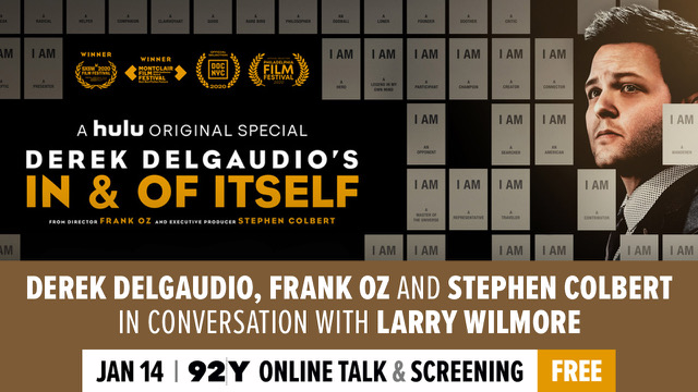 "Tomorrow night, join me and some friends for a discussion of Derek DelGaudio's ""In & Of Itself"" at the 92nd Street Y. It's a livestream, so the Y, in this case, stands for ""Your Room."""