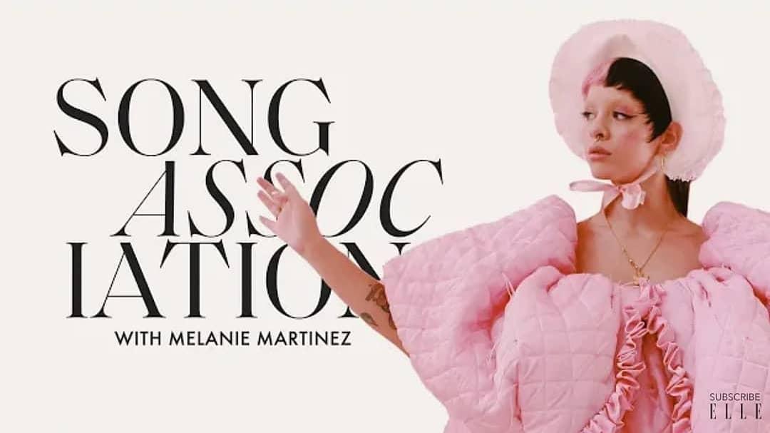 O canal ELLE acaba de postar um vídeo exclusivo de Melanie para o challenge #songassociation / Song Association.  Link temporariamente na biografia do BMBR! (Instagram)