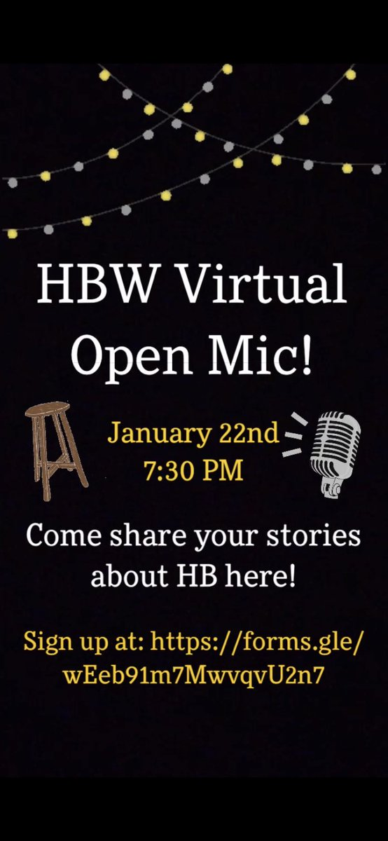 """<a target='_blank' href='http://search.twitter.com/search?q=lovehb'><a target='_blank' href='https://twitter.com/hashtag/lovehb?src=hash'>#lovehb</a></a> Storytelling Student & Staff! HIVE invites you (current only) to our 1st Virtual Open Mic Night, 1/22 7:30 in the HIVE Teams page! share stories about times in your life when you just had to say """"THAT IS SO HB!"""" Sign up to share your story here: <a target='_blank' href='https://t.co/ofB0HFOcYx'>https://t.co/ofB0HFOcYx</a> <a target='_blank' href='https://t.co/BM8g9yC9Jh'>https://t.co/BM8g9yC9Jh</a>"""