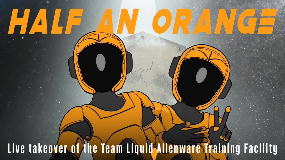 Team Liquid - ⚠️ INTRUDER ALERT ⚠️  @halfanorange and @Monstercat are plotting to take over the AWTF with special Team Liquid guests 🤫🍊  Tune in tomorrow to watch at 3 PM PT/6 PM ET!