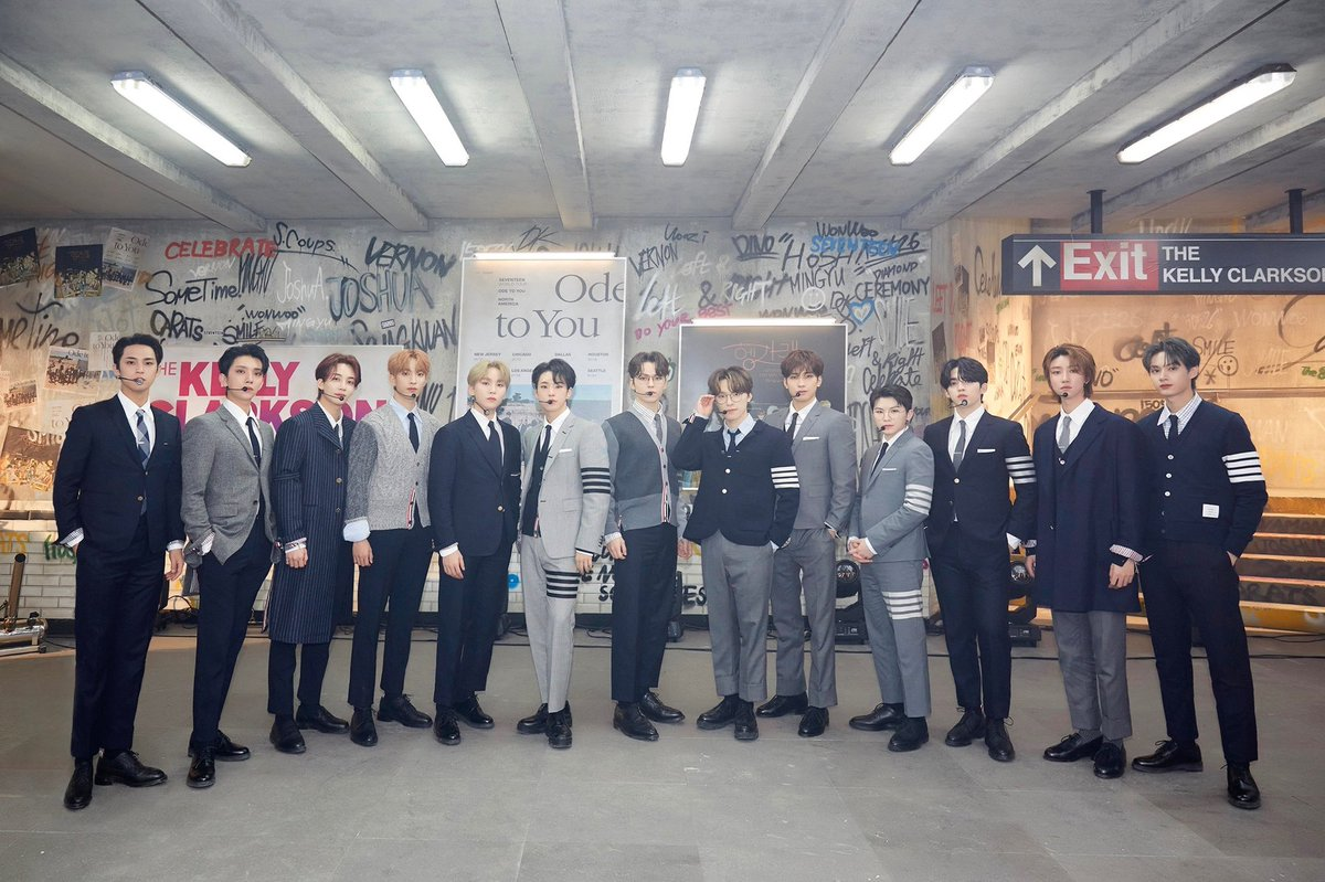 [17'S] SEVENTEEN on The Kelly Clarkson Show🌟   Who wants to see SEVENTEEN disguised as an office worker? 👨💼👨💼 They fascinated the local area with their unique performances🥳 #Work_hard_play_hard  #SEVENTEEN #Left_n_Right #KellyClarksonShow #SEVENTEENxKELLY