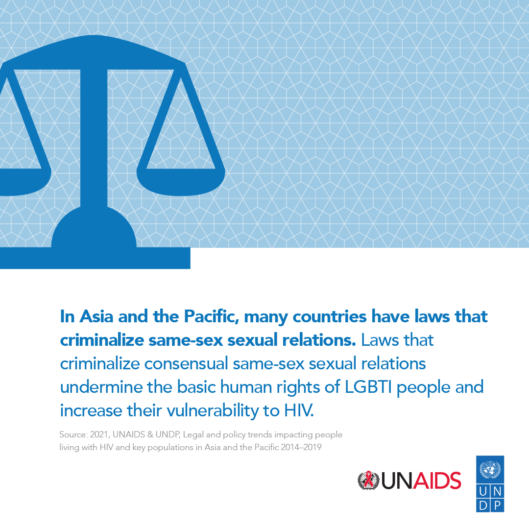 A new report by UNAIDS and UNDP examines the laws & policies that perpetuate stigma, discrimination, violence & other rights violations against people living with #HIV and key populations in 38 countries in #Asia #Pacific.  Download the report here 👉