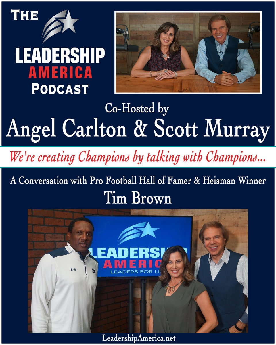 The new Podcast w/ #heisman  Winner & Pro Football Hall of Famer, Tim Brown!! Listen:   Watch:   @81TimBrown  was a #rockstar on the football field, but it's how he lives off the field that makes him a true #championofchange.