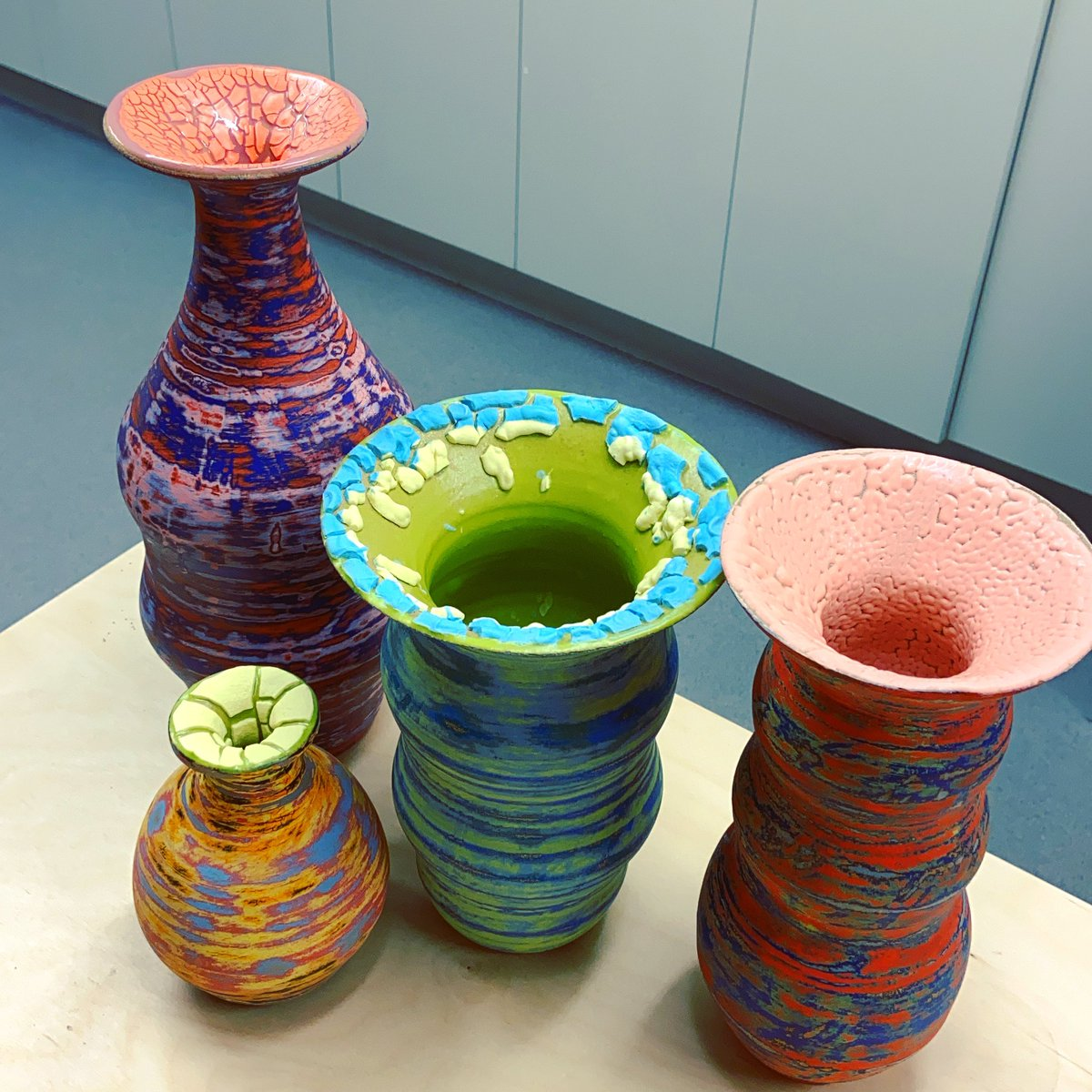 More vases with textures.