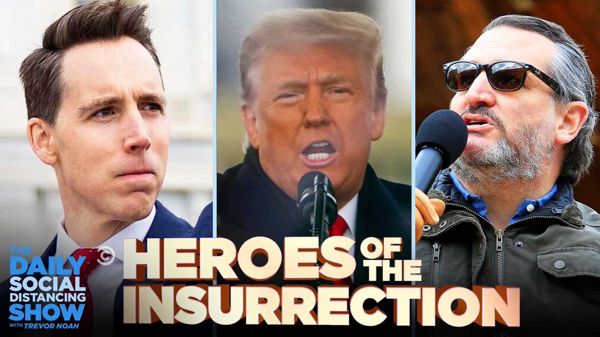 Cruz. Hawley. Pirro. Dobbs. Pierson. Graham. Pence. Carlson. Cawthorn. Jordan. Gaetz. Gohmert. Ingraham. Tuberville. McCarthy. Guilfoyle. Greene. McEnany. Biggs. Gosar. Hegseth. Brooks. Giuliani. Don Jr. Lara. Eric. Donald Trump.  Today, we salute the Heroes of the Insurrection.