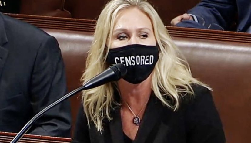 """If you wear a mask that says """"censored"""" while speaking into a microphone on national TV — you might just be a pathetic liar."""