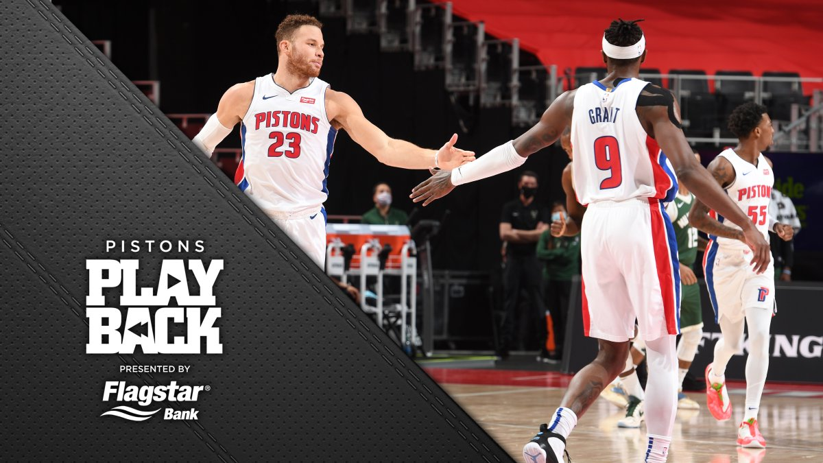 Got within 10 but couldn't comeback. Catch the highlights from our third meeting with the Bucks this season in #Pistons Playback presented by @Flagstar.
