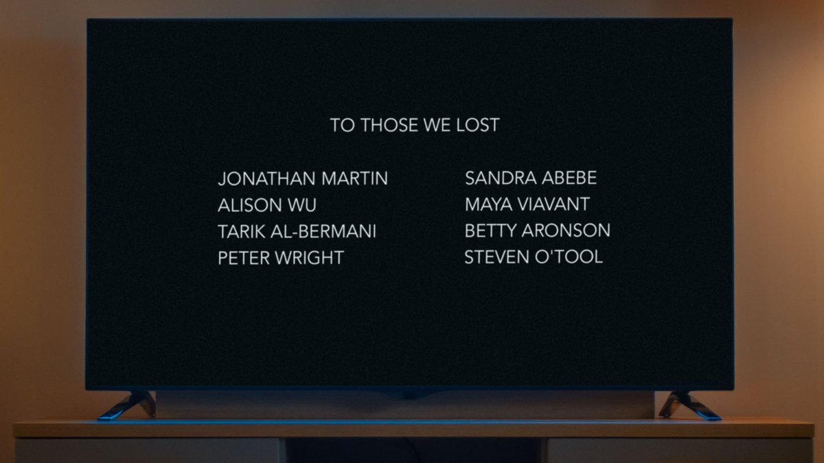 TV Credits Feature Touching Tribute To Those Who Died From Covid Contracted During Production