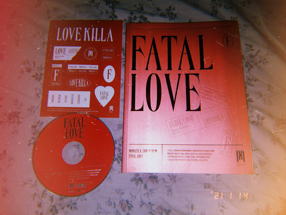 my Fatal Love album prize came earlier 😍 thank you @MonstaX_PH for giving us the #LoveKillaChallenge !! This is my first time winning the 1st prize in any dance challenge ☺️🙇‍♂️