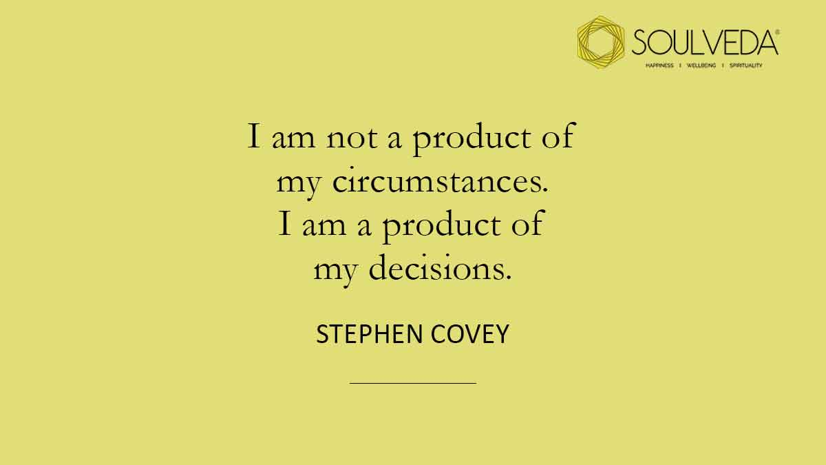 Let your #decisions define your circumstances, not the other way around.  #soulveda #choices #yourchoice #chooseyourself #motivation #MotivationalQuotes #thursdaymorning