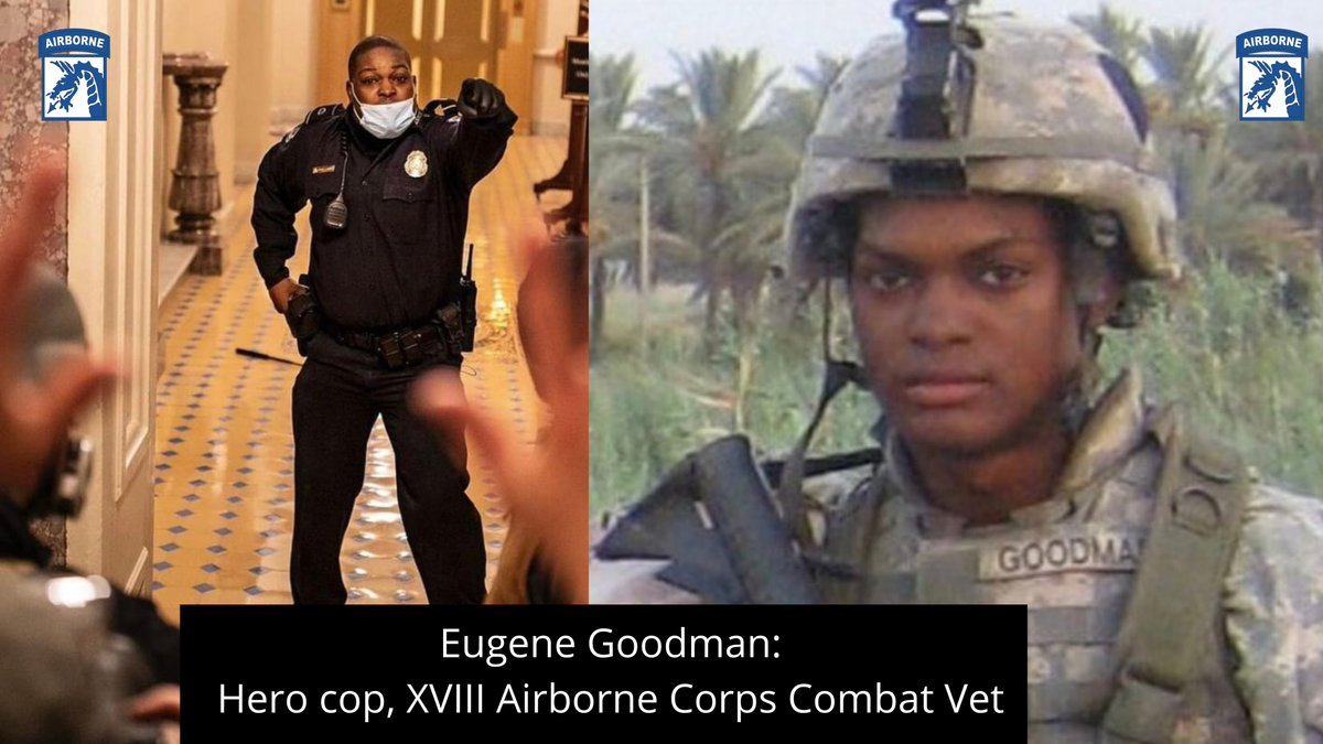 Capitol police officer Eugene Goodman is rightfully being hailed as a hero after singlehandedly holding back rioters from entering the Senate chambers last week. An Iraq combat vet and member of this Corps, Eugene was a hero long before last Wednesday. We celebrate his valor.