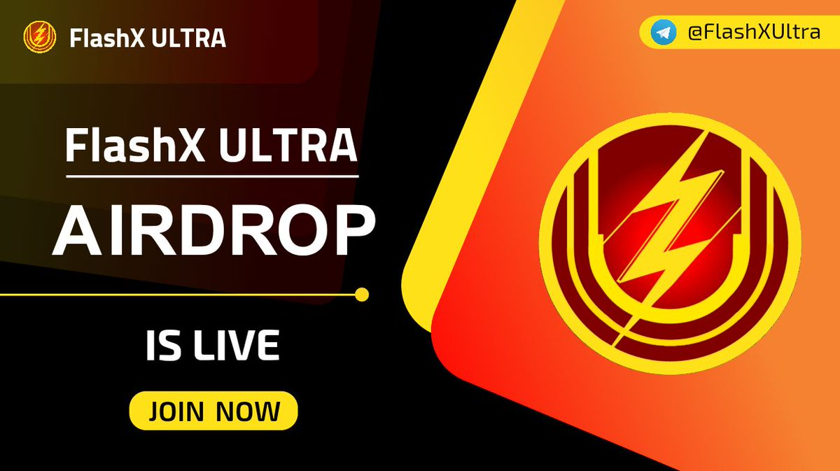 FlashX Ultra Airdrop is Live!  Please Start the bot and do simple tasks to earn 10,000 $FSXU,Dont forget to invite your friends to earn more