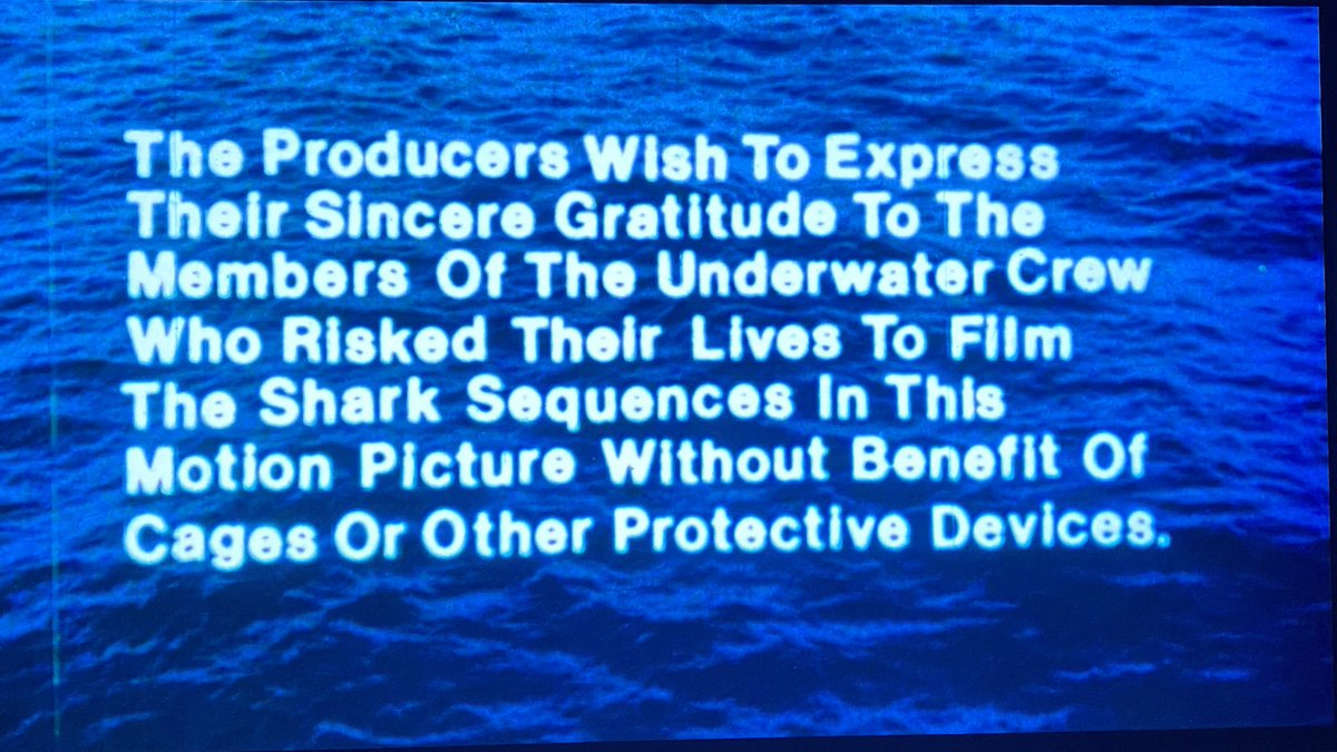 """Title card (and some pre-title ballyhoo) for """"WILLARD with sharks."""" Which is a great logline."""