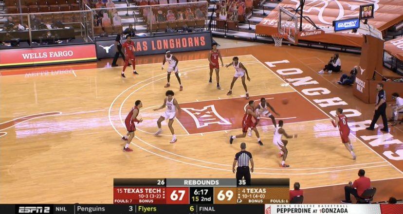 Good game alert! @TexasMBB @TexasTechMBB espn2 now!!!