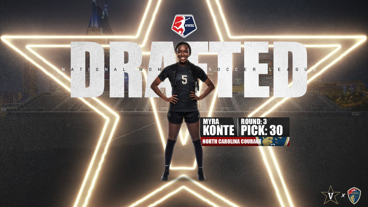 Music City ➡️ @TheNCCourage   Congratulations to Myra Konte, selected in the third round of tonight's @NWSL Draft to the North Carolina Courage.  #AnchorDown