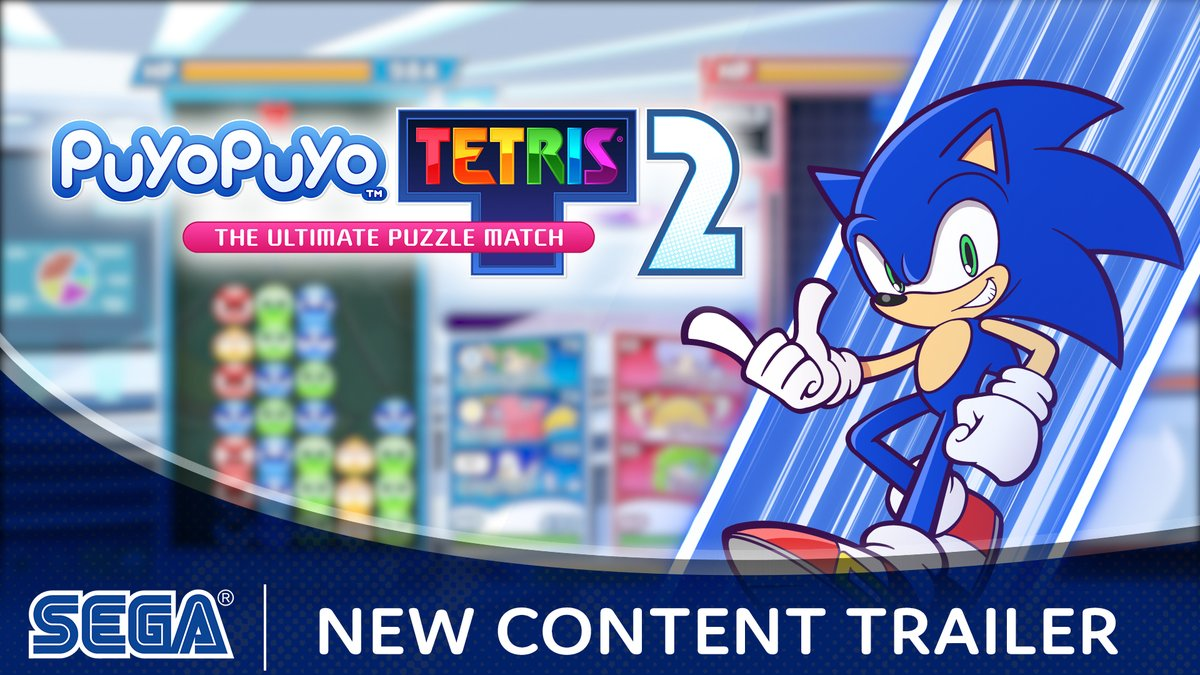 Sonic's the name, Puyo is the game!  Starting today, Sonic the Hedgehog, Lidelle, Ms. Accord, and The Ocean Prince join the playable cast of #PuyoPuyoTetris2! 🎉  Try them out in the new online co-op Boss Raid mode, also available today! Chili dogs not included.