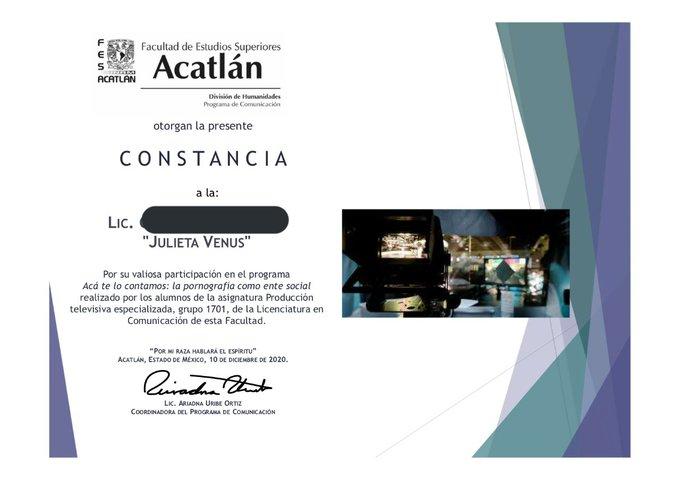 Ya recibí mi constancia por parte de la UNAM FES Acatlán. Ahora toca imprimirla y pegarla en el refri
